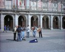 Street performers in the Plaza Mayor